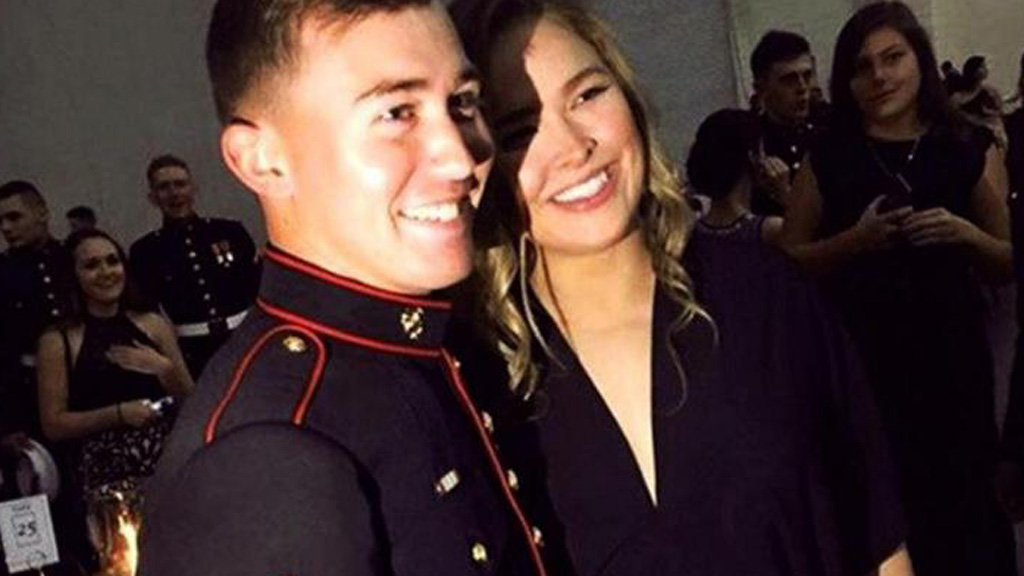 Ronda Rousey keeps promise to US Marine and attends ball