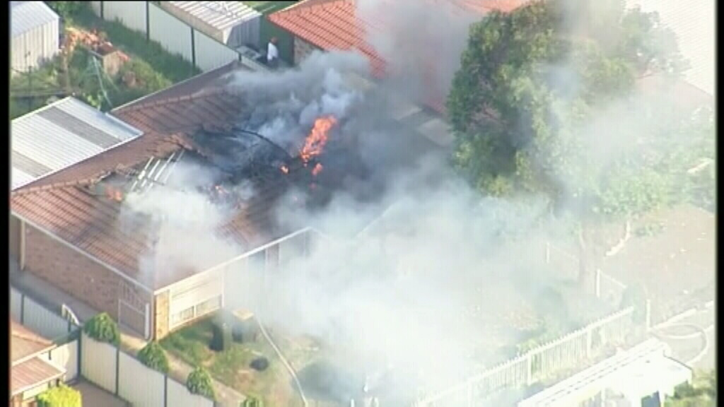 Firefighters were called to the blaze at about 5pm this afternoon. (9NEWS)
