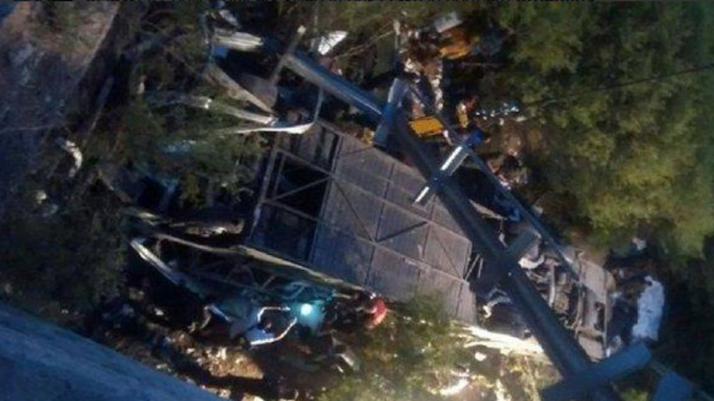 At least 42 killed after Argentine police bus crashes into ravine