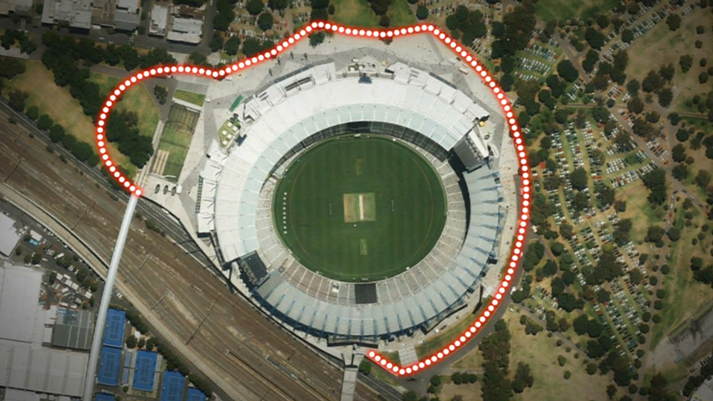 The fence is expected to be ready for Sunday's Big Bash League game. (9NEWS)