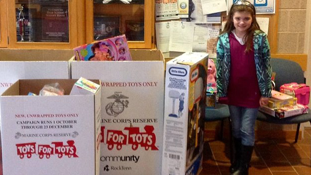 Nine-year-old girl donates birthday presents to local kids for Christmas