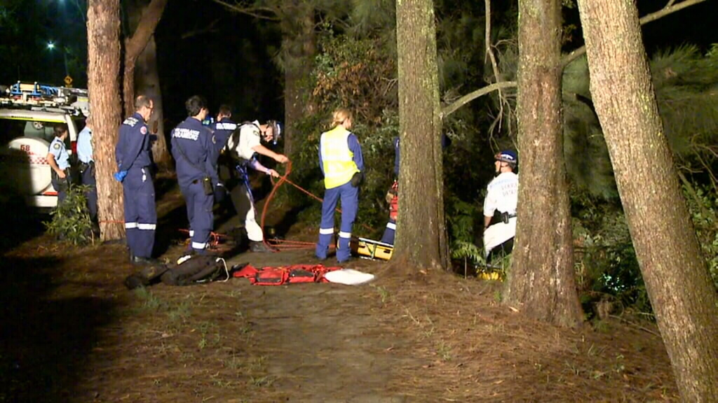 Man suffers deep cuts to the head after plunging 10m down a cliff in north Sydney