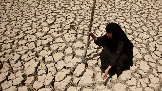 Below-average rainfall and insufficient water in the Euphrates and Tigris rivers, something the Iraqis have blamed on dams in neighboring Turkey and Syria, have left Iraq bone-dry for a second straight year. Source: AAP
