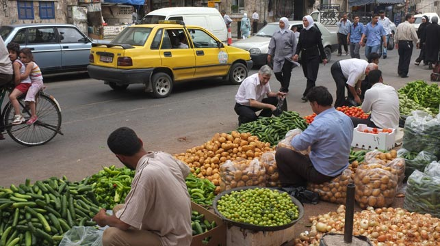 A thriving market in Damascus in 2007. (Getty)