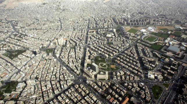 An aerial shot of Damascus in 2007, four years before civil war broke out. (Getty)