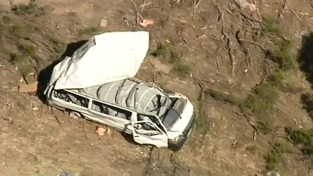 Five people were taken to hospital with minor injuries. (9NEWS)