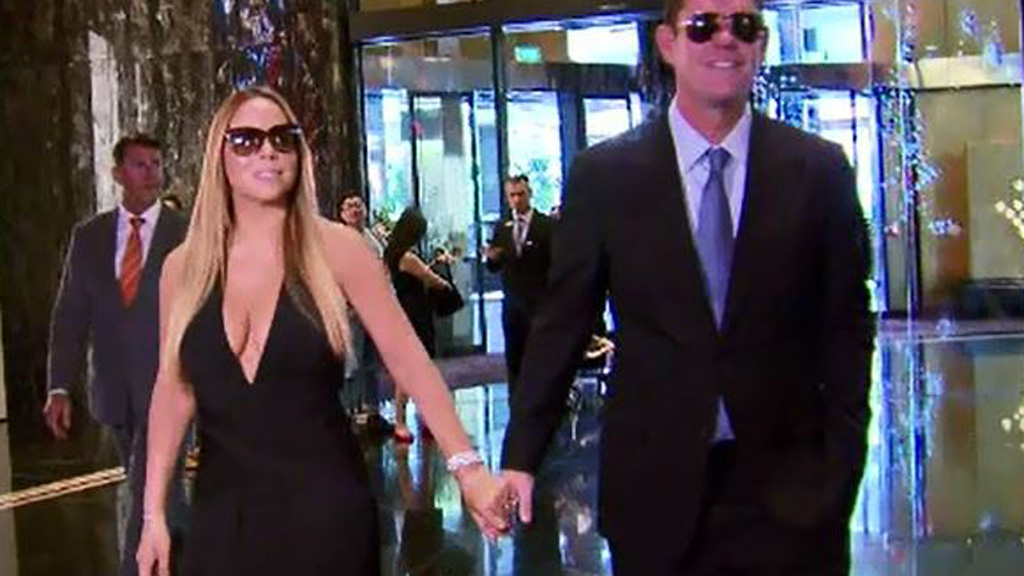 Mr Packer and girlfriend Mariah Carey. (9NEWS)