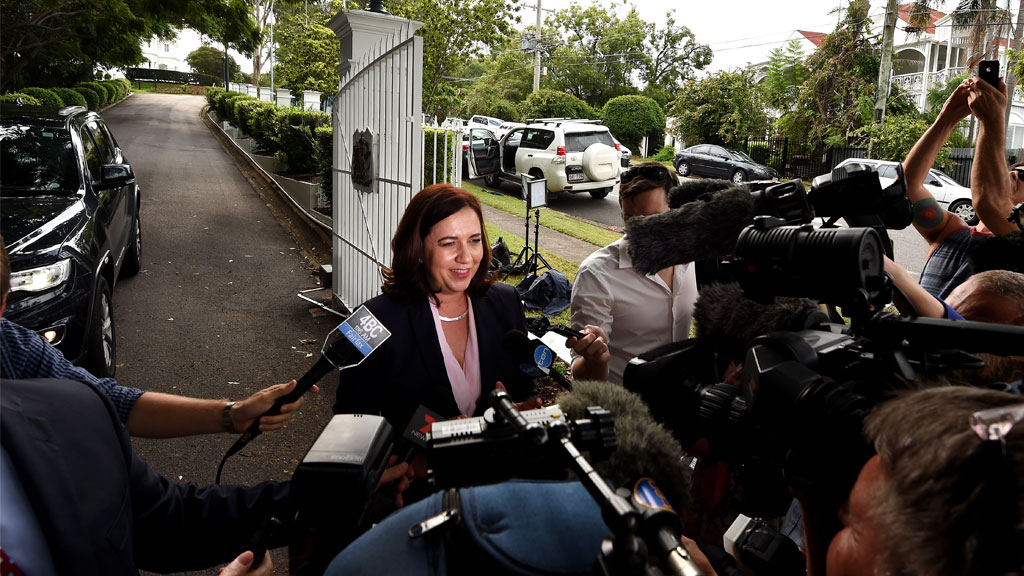 Annastacia Palaszczuk fronts media after being announced Premier of Queensland.