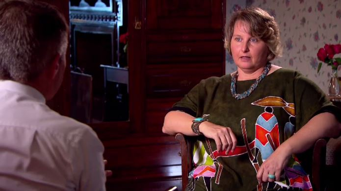 Former senior member Clare Birchley accuses cult leader Debra Burslem of fraud. (A Current Affair)