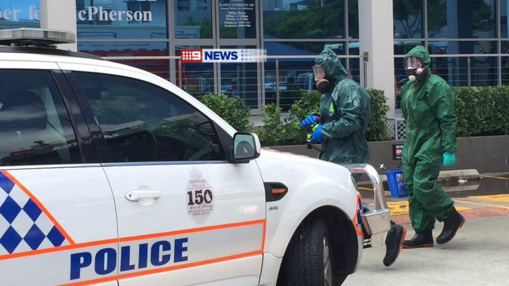 Gold Coast MP's office evacuated after receiving suspicious letter containing white powder