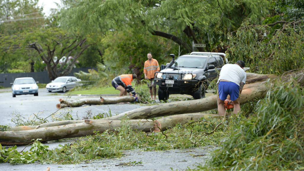 Towns are preparing for flooding in the aftermath of Tropical Cyclone Marcia. (AAP)