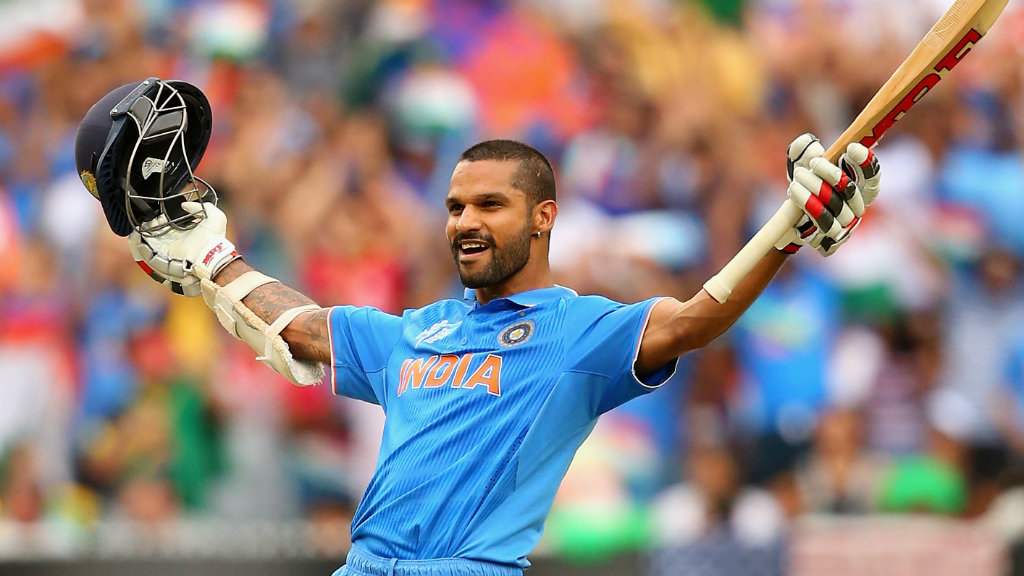 Shikhar Dhawan hit a career best 137. (Getty)
