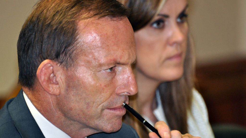 Former Prime Minister Tony Abbott with his chief of staff Peta Credlin. (AAP)