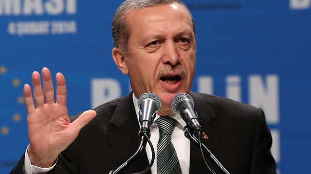 Turkish President Recep Tayyip Erdogan has been criticised for spearheading a crackdown on journalists and social media. (Getty)