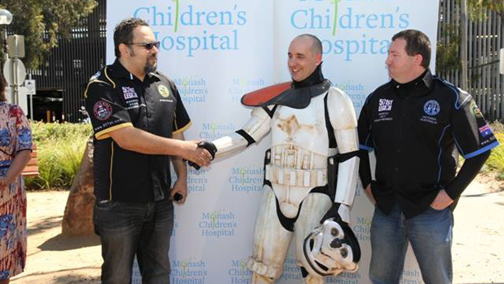 Mr Loxley has raised $40,000 for the Monash Children's Hospital so far (Facebook)