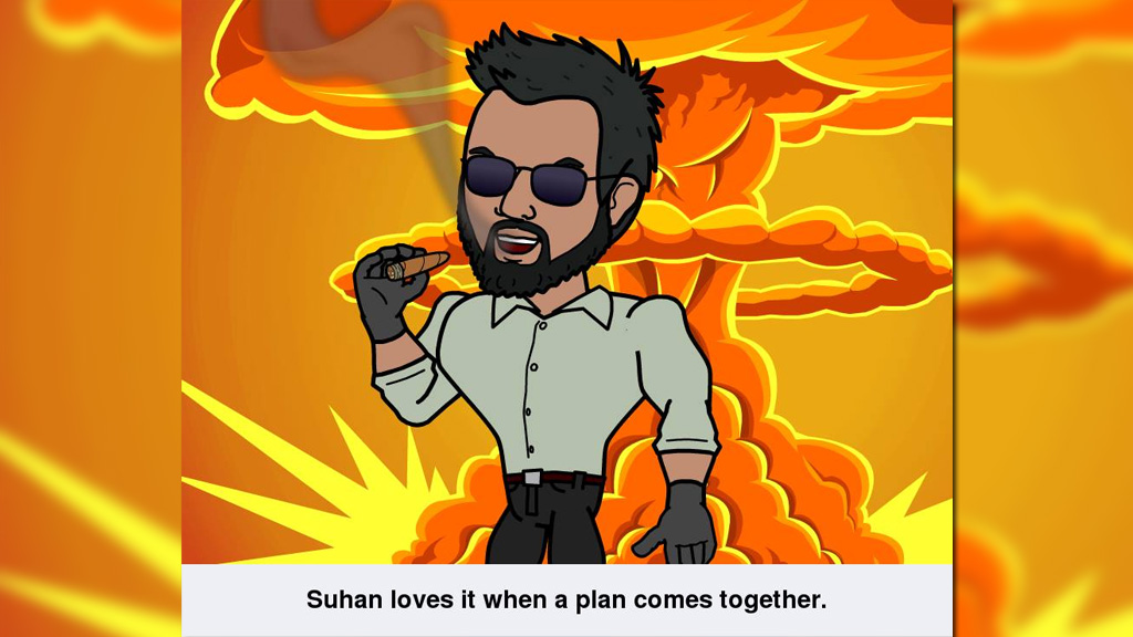 The Bitstrip cartoon posted to Rahman's Facebook page. (Supplied)