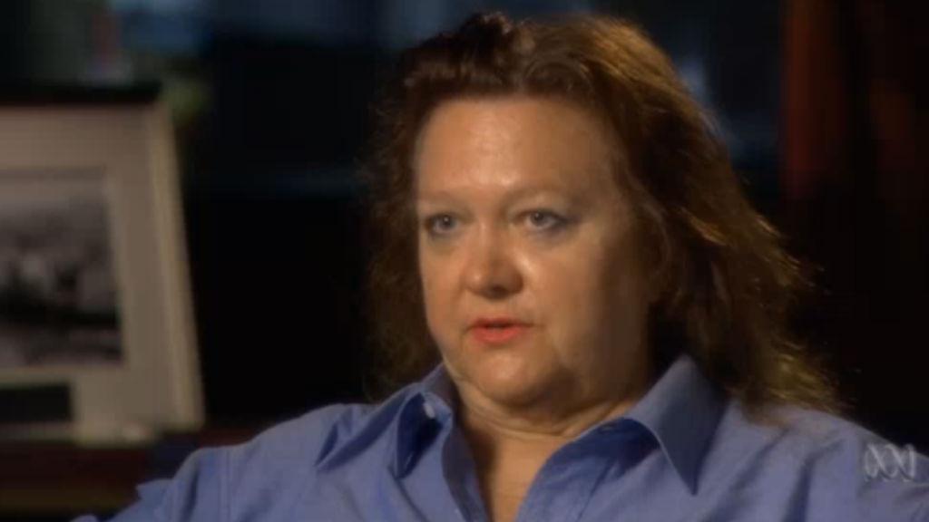 Gina Rinehart on Australian Story. (ABC TV)