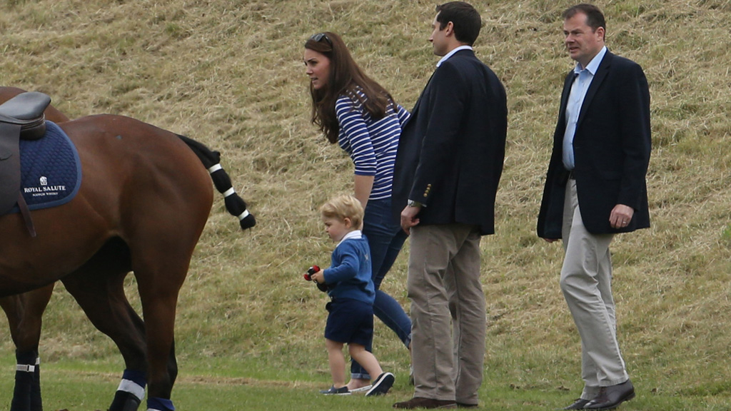The royals attended a charity polo event in Gloucestershire. (AAP)