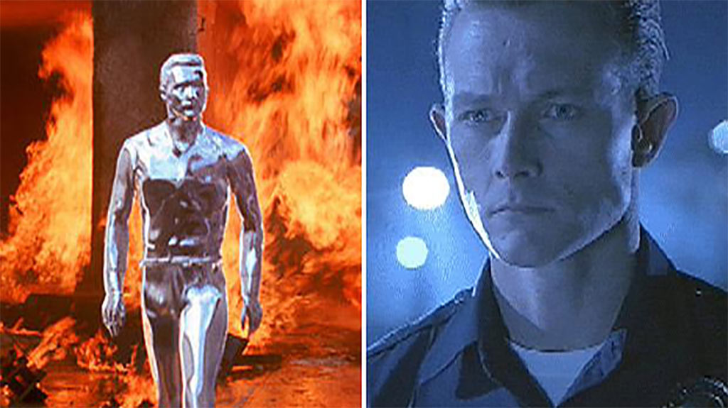The shape-shifting liquid metal evokes Terminator antagonist T-1000 (Hemdale/Pacific Western/Orion Pictures)