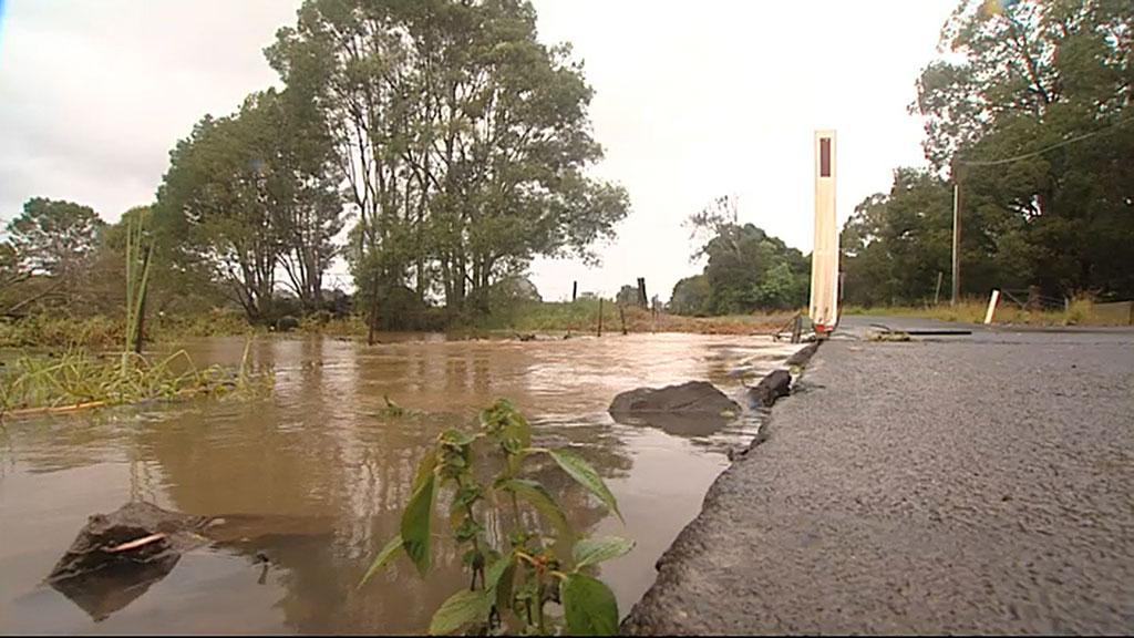 Flooding in Mullumbimby. (9NEWS)