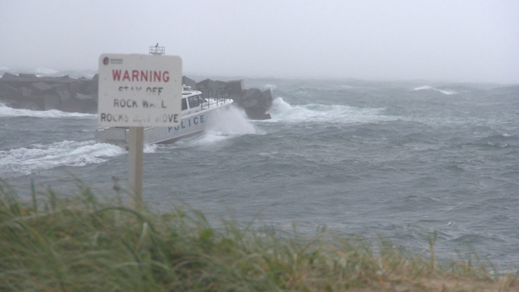 Two-three metre surf will continue to lash the coast. (9NEWS)