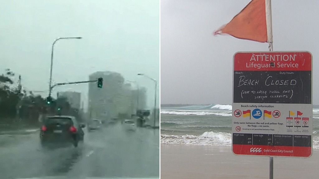 Queensland Premier Annastacia Palasczuk urged residents in the south-east to stay home and avoid the wild weather. (9NEWS)