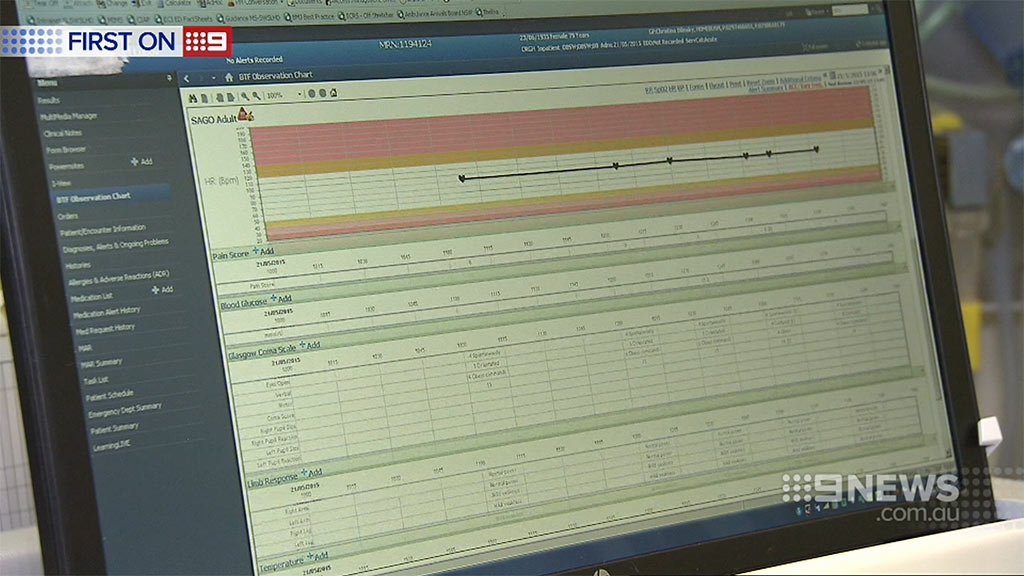 And vital information is sent to a monitoring centre. (9NEWS)