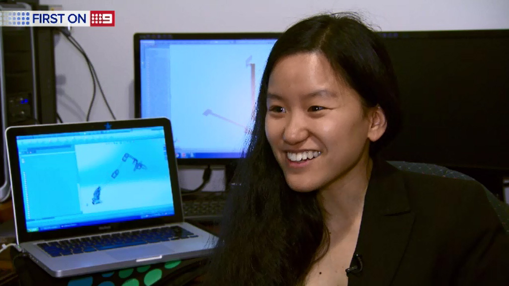 Marita Cheng led a team of engineers to develop the robotic arm. (9NEWS)