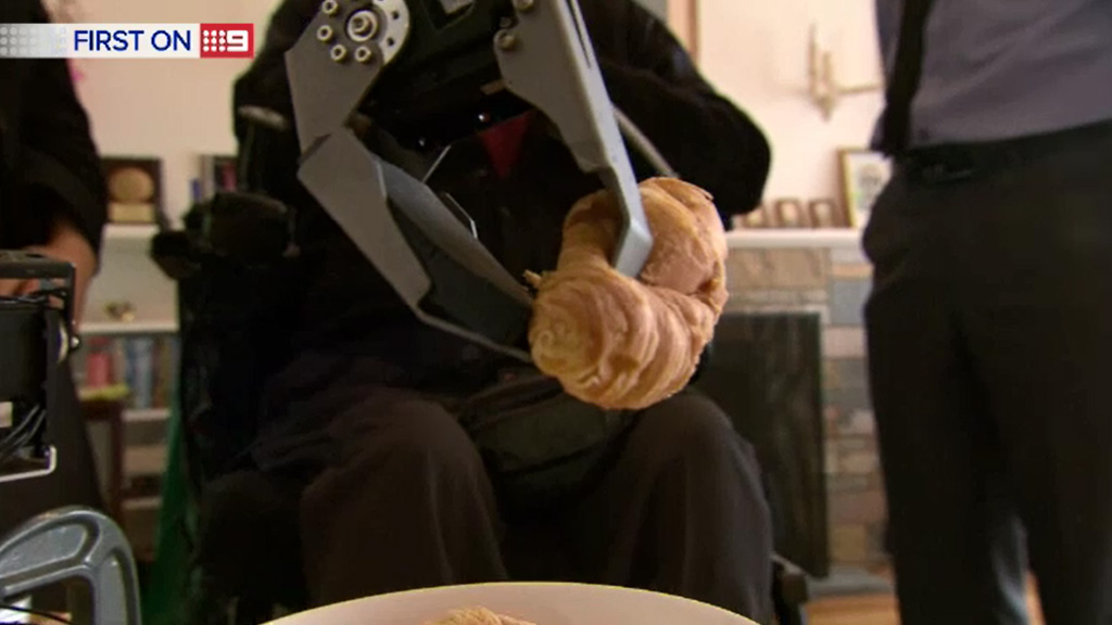 Cheng hopes to have the robotic arm in homes within two years. (9NEWS)