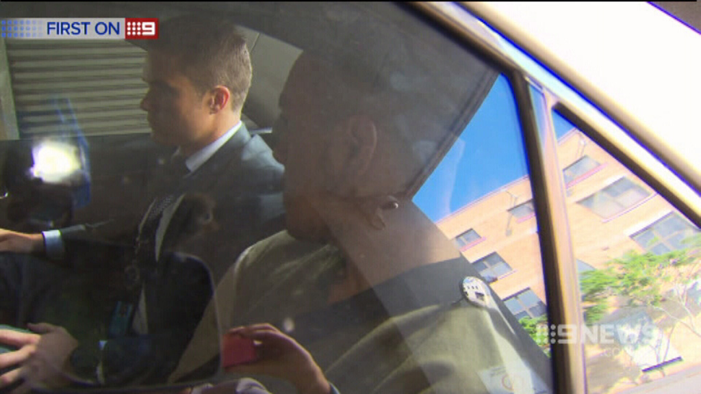 Lionel Patea entering the watchhouse. (9NEWS)