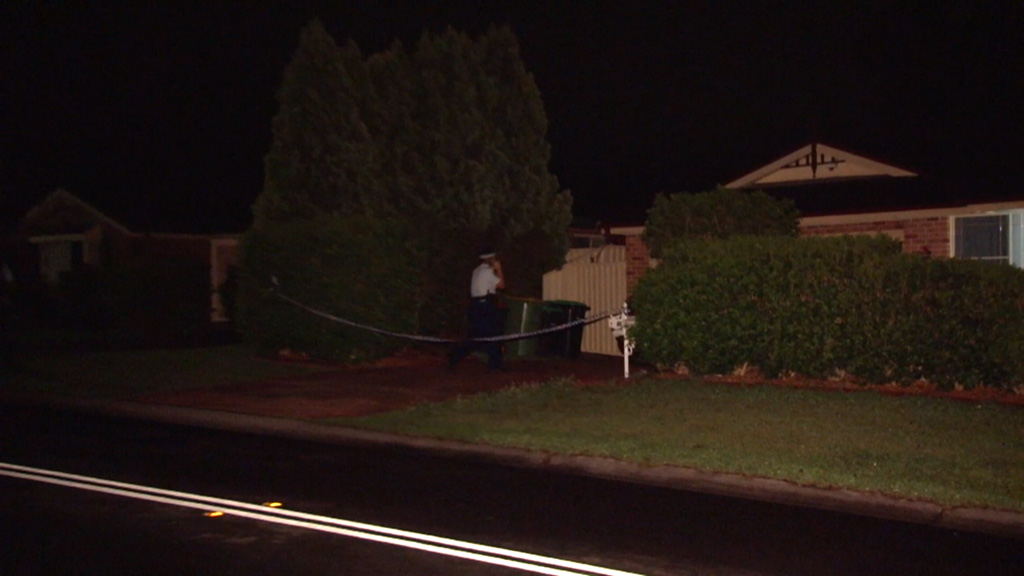 The woman was found tied up inside the home. (9NEWS)