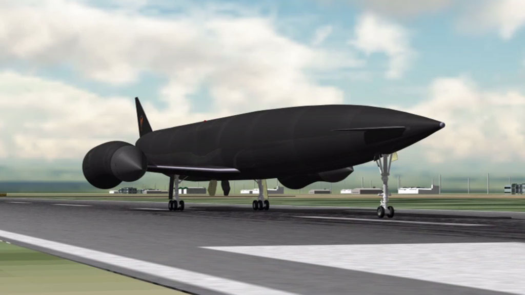 Skylon would take off and land on a regular runway, just like any other aircraft. (Reaction Engines Limited)