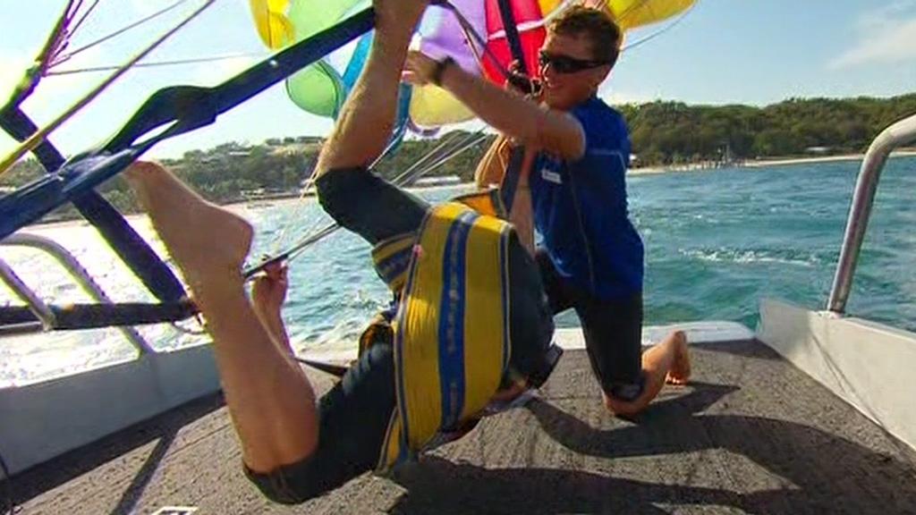 Jacobs' awkward landing.