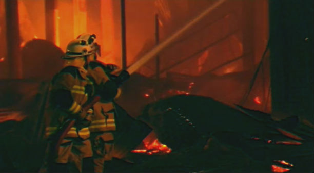 The fire was well alight when crews arrived. (9NEWS)