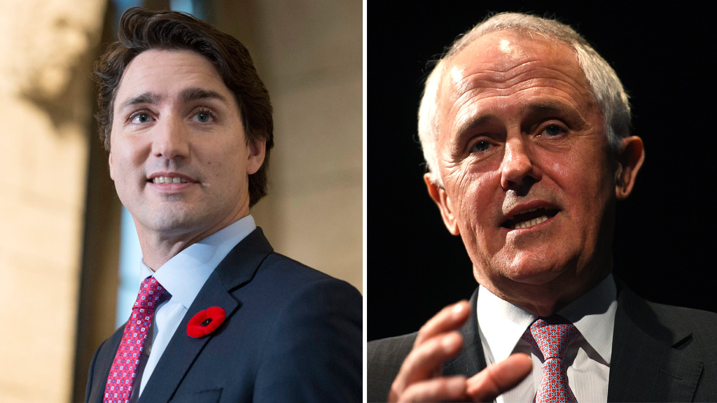 PM Turnbull says Australia would match Canada's diverse new Cabinet 'in an ideal world'
