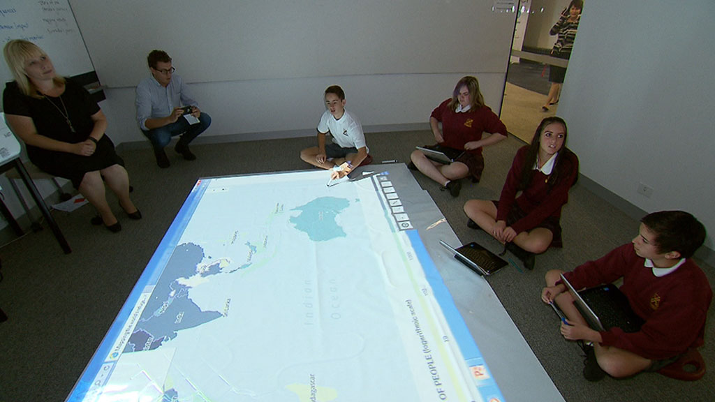 Welcome to the classroom of the future. (9NEWS)