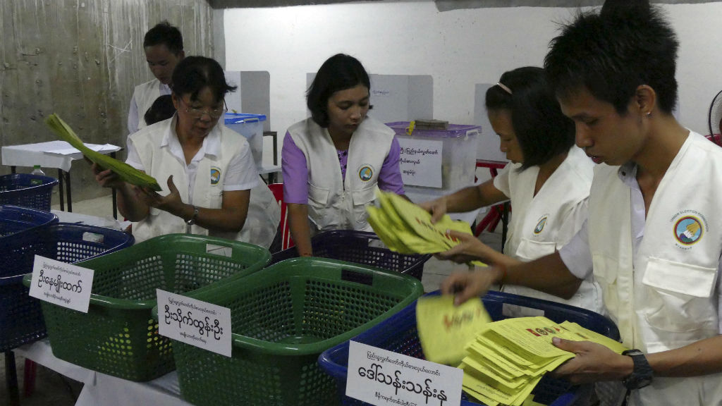 Millions vote as election count in Myanmar begins