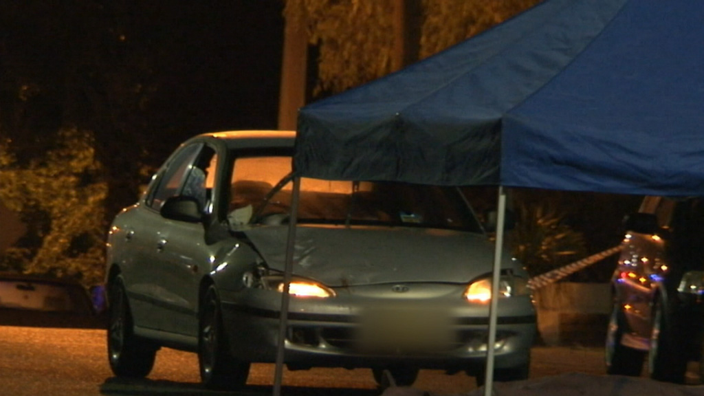 A 45-year-old driver was taken to hospital for mandatory testing. (9News)