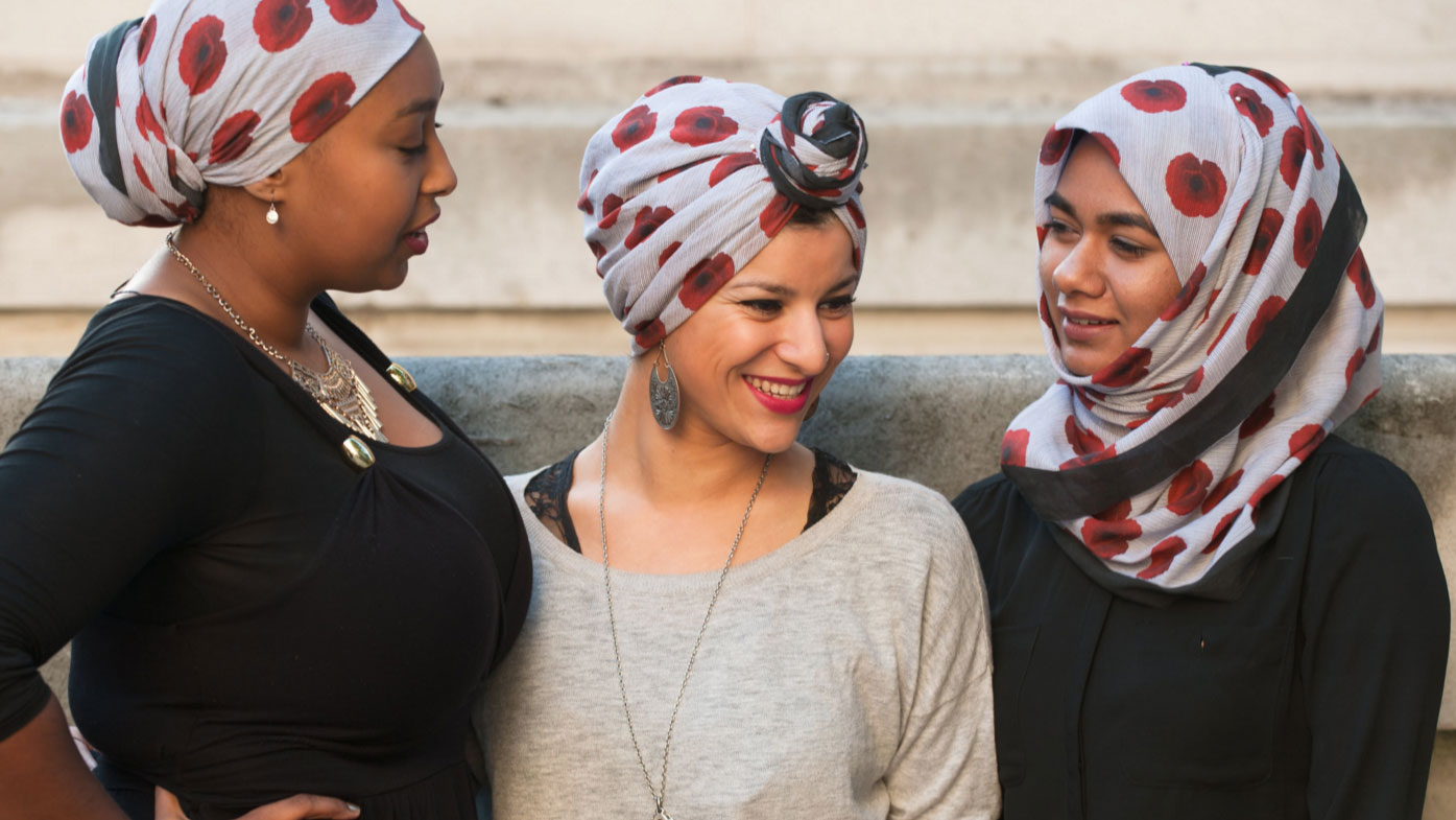 UK armed forces charity stocks poppy-patterned hijab scarf amid growing demand