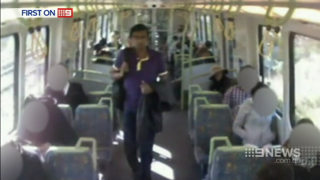 This man pinned a woman against a carriage wall before indecently assaulting her. (9NEWS)