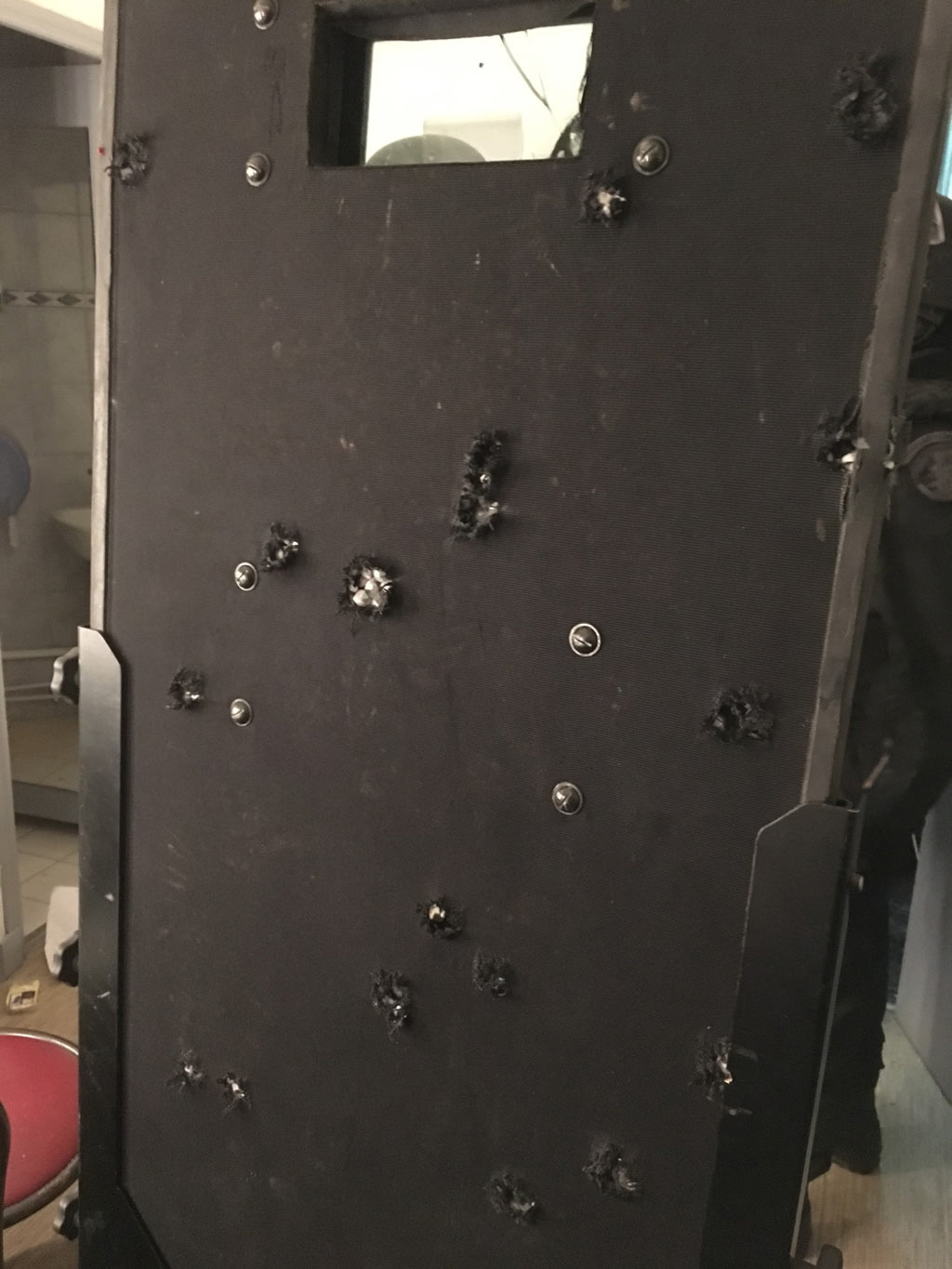 The shield that stopped 27 bullets during the Bataclan theatre raid