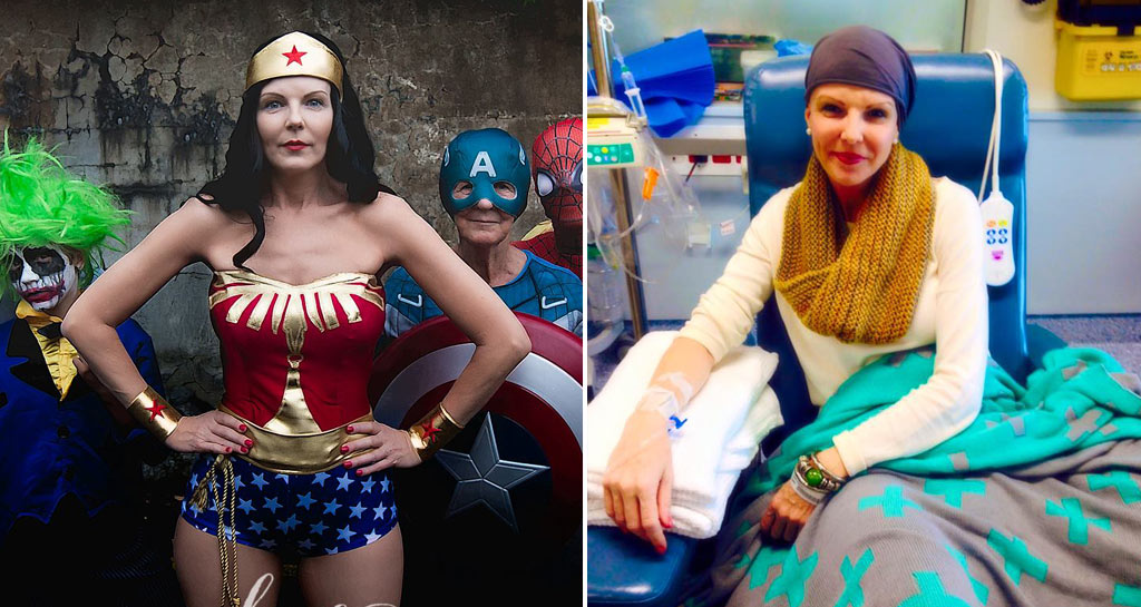 'Hero' Brisbane mum finishes third chemo session with super photo shoot