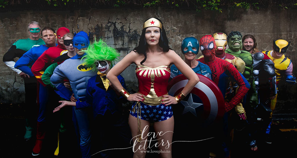 Ms Javernig as Wonder Woman. (Love LEtters Photography)