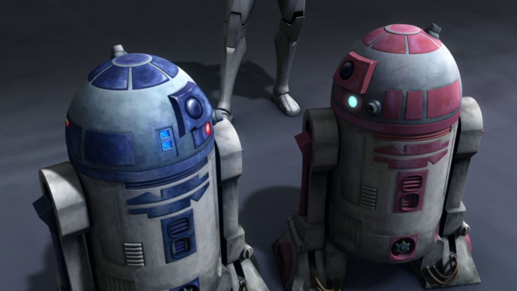 R2-D2 and R2-KT in The Clone Wars. (Lucasfilm/Disney)