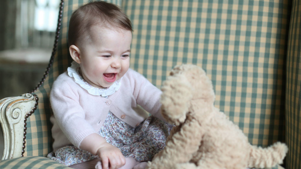 This photo of Princess Charlotte was taken by The Duchess of Cambridge at home in Norfolk. (Duchess of Cambridge via AP)