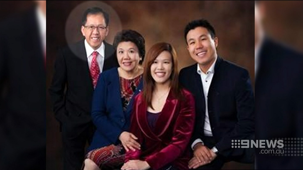 Curtis Cheng (far left) with wife Selina, daughter Zilvia and son Alpha. (Supplied)