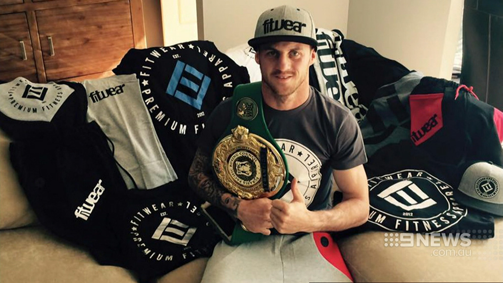 Davey Browne collapsed during a fight at Sydney's Ingleburn RSL last week. (Supplied)