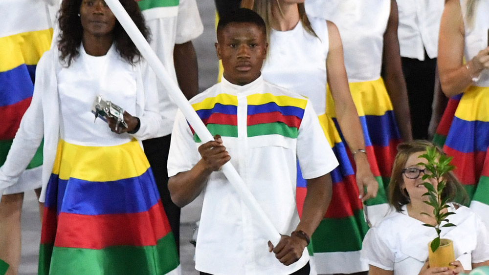 Namibia's flag-bearer Jonas Junias has been arrested on suspicion of sexual assault. (AFP)