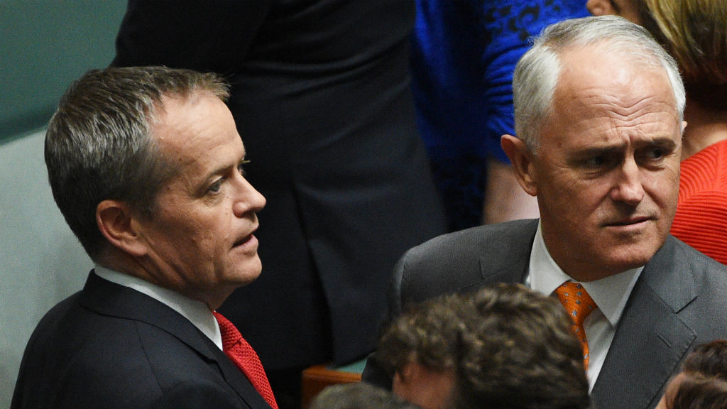 Bill Shorten and Malcolm Turnbull. (AAP)