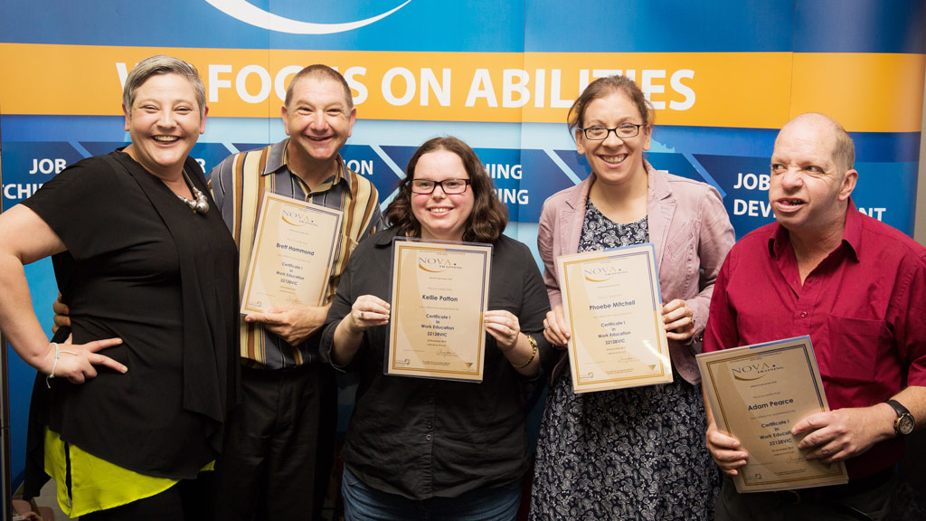 Nova EEP participants received certificates to mark their graduation. (Nova Employment)